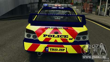 Subaru Impreza British ANPR [ELS] pour GTA 4 Salon