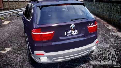 BMW X5 xDrive 4.8i 2009 v1.1 für GTA 4 Unteransicht