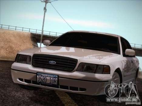 Ford Crown Victoria Interceptor für GTA San Andreas Innenansicht