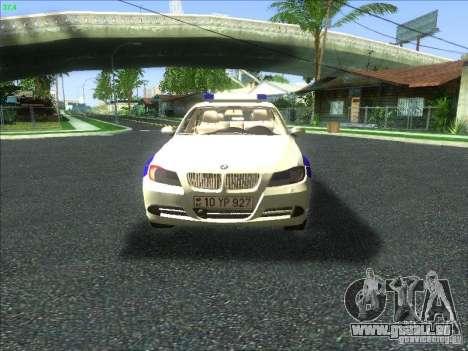 BMW 330i YPX für GTA San Andreas obere Ansicht