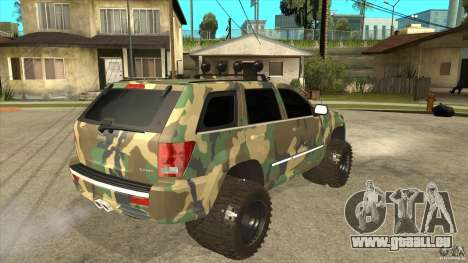 Jeep Grand Cherokee SRT8 Camo für GTA San Andreas rechten Ansicht