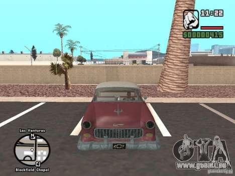 1955 Chevy Belair Sports Coupe pour GTA San Andreas vue de droite