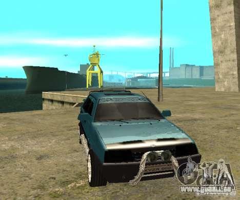 Mélodie sparco 21099 VAZ pour GTA San Andreas sur la vue arrière gauche