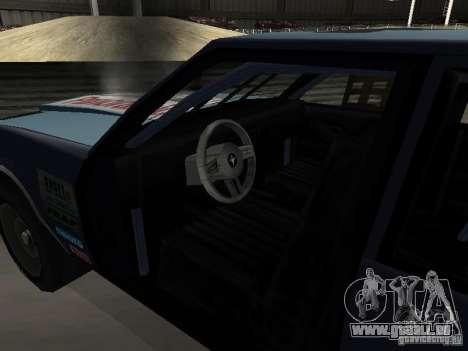 GreenWood Racer pour GTA San Andreas vue intérieure