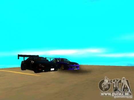 Lexus SC430 Daigo Saito v2 pour GTA San Andreas vue arrière