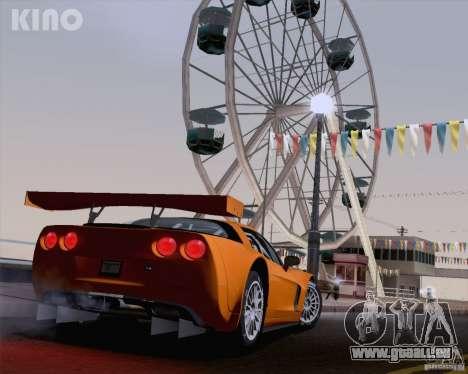 Chevrolet Corvette C6 Z06R GT3 v1.0.1 pour GTA San Andreas laissé vue