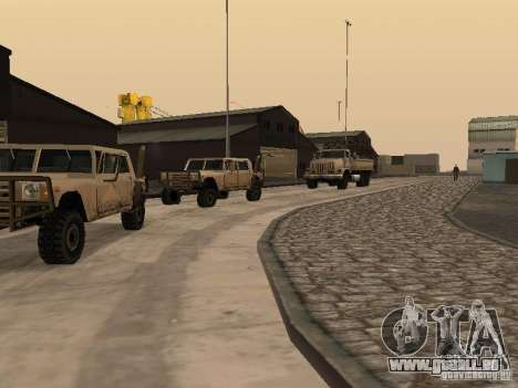 Die wiederbelebten Militärbasis in Docks v3. 0 für GTA San Andreas