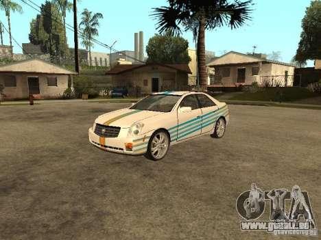 Cadillac CTS pour GTA San Andreas vue de côté