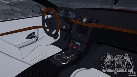 Maserati Gran Turismo 2008 Beta pour GTA 4 est une vue de l'intérieur
