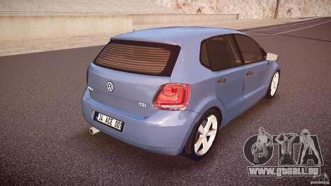 Volkswagen Polo 2011 pour GTA 4 vue de dessus