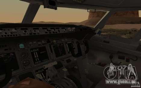 Boeing 737-800 für GTA San Andreas Rückansicht