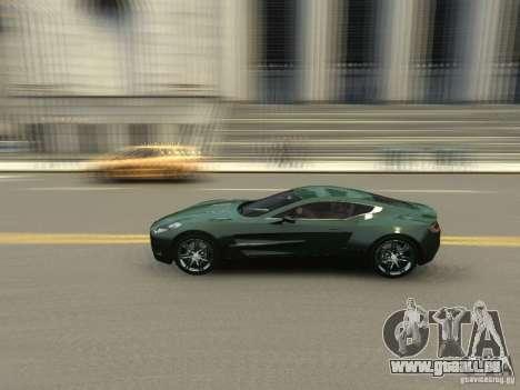Aston Martin One 77 2012 pour GTA 4 est une vue de l'intérieur
