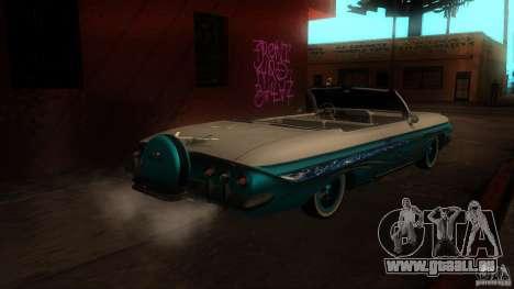 Chevy Impala SS 1961 pour GTA San Andreas vue de droite