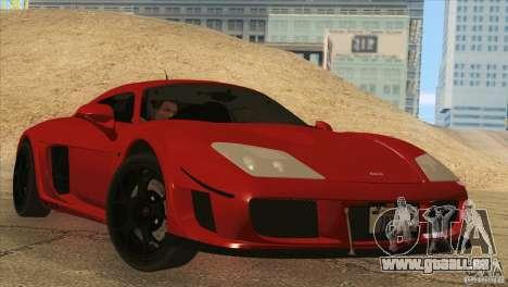 Noble M600 pour GTA San Andreas laissé vue