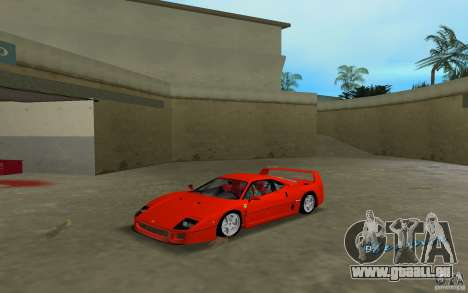 Ferrari F40 für GTA Vice City linke Ansicht