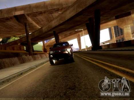 Mitsubishi L200 Stock pour GTA San Andreas vue arrière