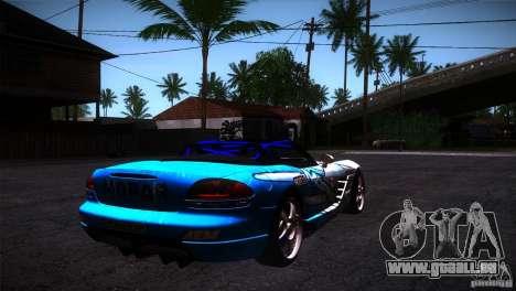 Dodge Viper Mopar Drift pour GTA San Andreas vue de droite