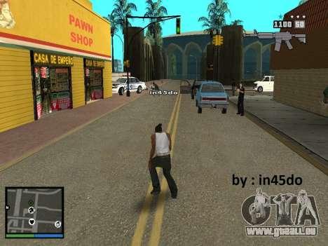 GTA V Interface for Samp für GTA San Andreas dritten Screenshot