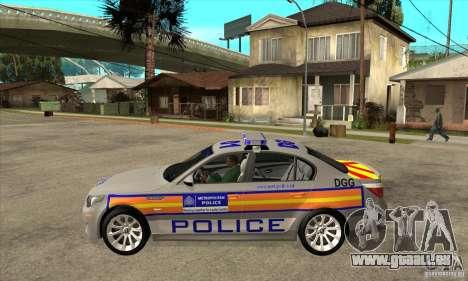 Metropolitan Police BMW 5 Series Saloon für GTA San Andreas linke Ansicht