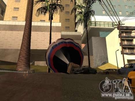 Ballon Vitiaz pour GTA San Andreas sur la vue arrière gauche