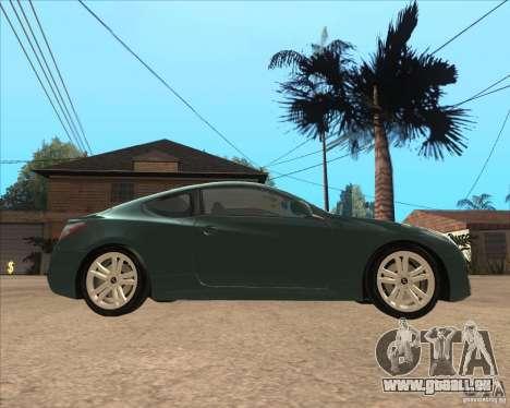 Hyundai Genesis Coupe pour GTA San Andreas laissé vue
