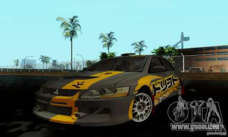 Mitsubishi Lancer Evolution IX pour GTA San Andreas sur la vue arrière gauche