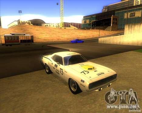 Plymouth Hemi Cuda für GTA San Andreas Rückansicht