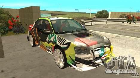 Subaru Impreza 2005 Mission Edition für GTA San Andreas Rückansicht