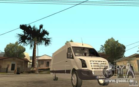 Volkswagen Crafter 2010 TDI pour GTA San Andreas vue arrière