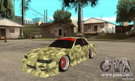 Nissan Silvia S13 Army Drift für GTA San Andreas