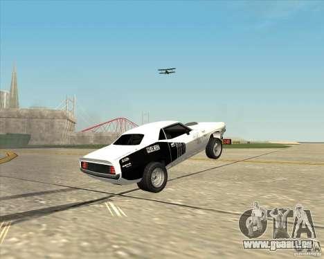 Plymouth Hemi Cuda Rogue pour GTA San Andreas vue arrière