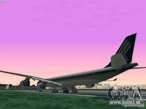 Airbus A340-600 Singapore Airlines pour GTA San Andreas laissé vue