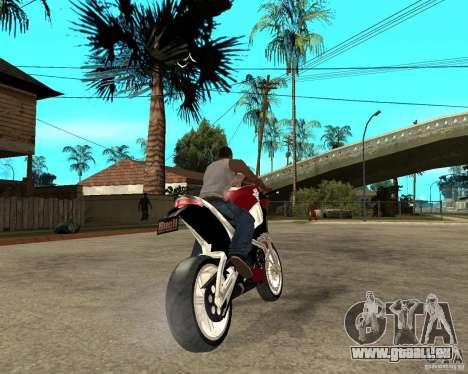 Buell LighTuning 1200 pour GTA San Andreas sur la vue arrière gauche