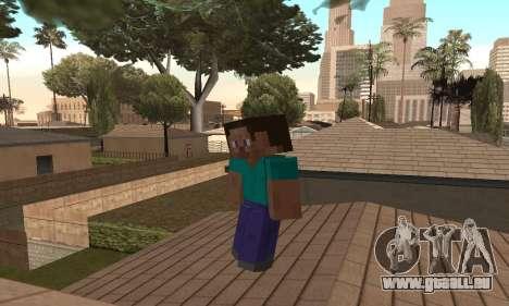 Steve de la peau de Minecraft jeu pour GTA San Andreas quatrième écran
