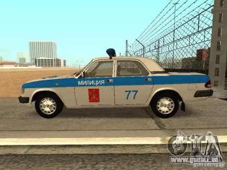 GAZ 3110 Police pour GTA San Andreas laissé vue