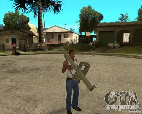 Armes de call of duty pour GTA San Andreas deuxième écran