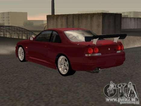 Nissan Skyline GT-R BCNR 33 pour GTA San Andreas vue de droite