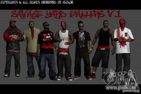 Peaux gang Bloodz pour GTA San Andreas