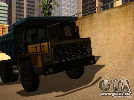 BELAZ 540 pour GTA San Andreas sur la vue arrière gauche