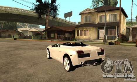 Lamborghini Concept S v2.0 pour GTA San Andreas sur la vue arrière gauche