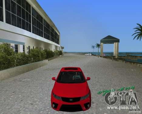Kia Forte Coupe pour GTA Vice City sur la vue arrière gauche