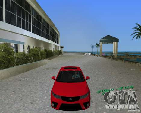 Kia Forte Coupe für GTA Vice City zurück linke Ansicht