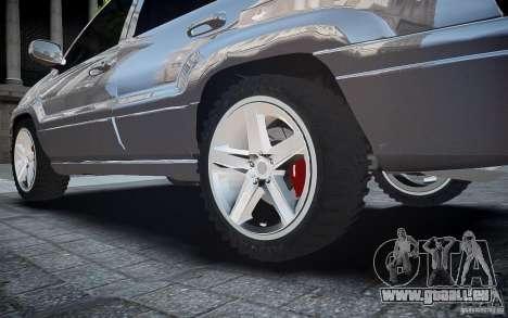 Jeep Grand Cheroke für GTA 4 Unteransicht