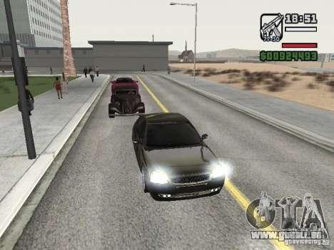 Lada Priora Light Tuning pour GTA San Andreas laissé vue