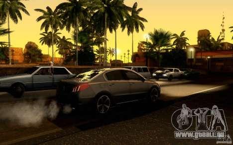 Peugeot 508 2011 pour GTA San Andreas laissé vue