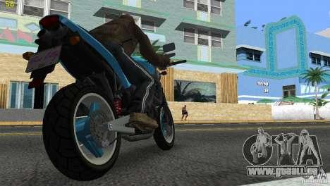 PCJ 600 pour une vue GTA Vice City de la gauche