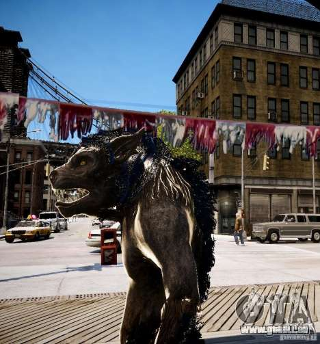 Werewolf from Skyrim für GTA 4 dritte Screenshot