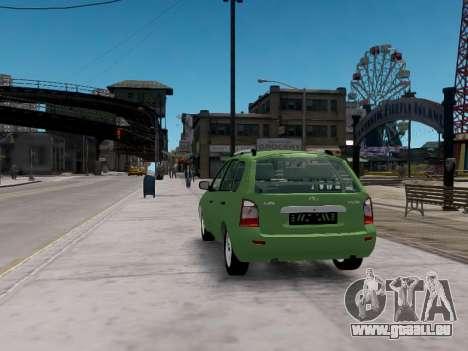 LADA 1117 Break Viburnum pour GTA 4 Vue arrière de la gauche