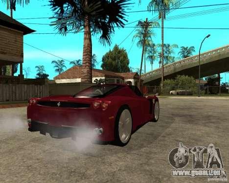 Ferrari ENZO 2003 v.2 final pour GTA San Andreas sur la vue arrière gauche