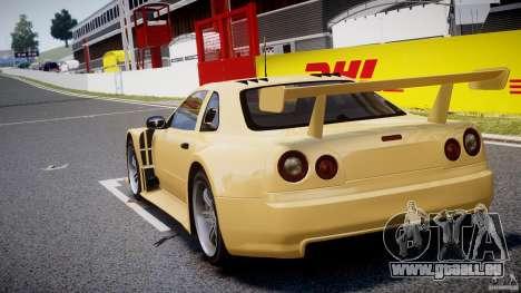 Nissan Skyline R34 v1.0 pour GTA 4 Vue arrière de la gauche